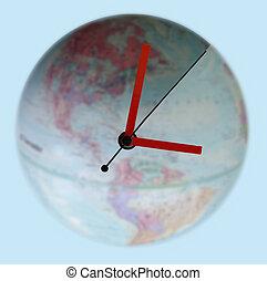 autour de, horloge