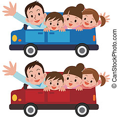 autovakantie, gezin