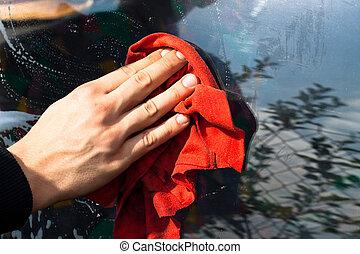 autowaschen, detail