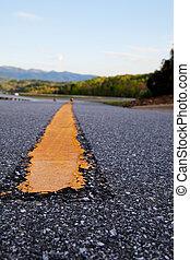 autoweg, lijn, delen