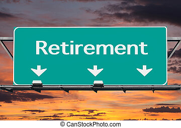 autoweg, pensioen, wegaanduiding