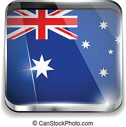 Autralia Flag Smartphone Application Square Buttons