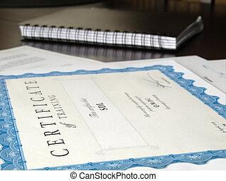autre, documents, certificat