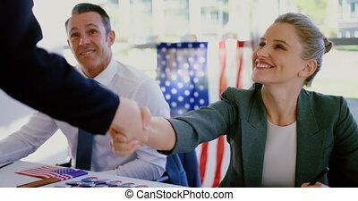 autre, vérification, femmes affaires, mains, quoique, ...