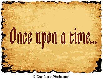autrefois, sur, temps