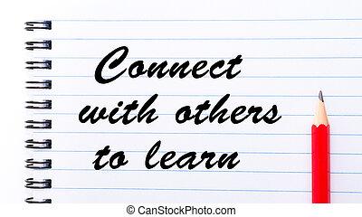 autres, relier, apprendre