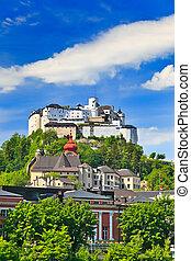 autriche, forteresse, salzbourg, hohensalzburg