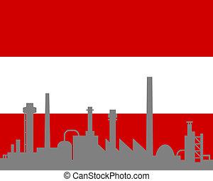 autriche, industrie, drapeau