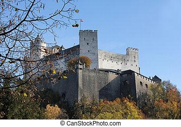 autriche, salzbourg, forteresse, hohensalzburg