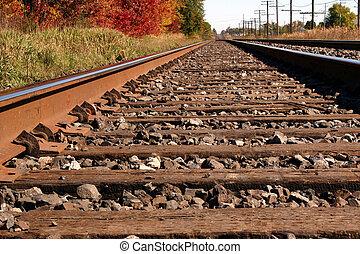 Autum Rails - Railroad tracks