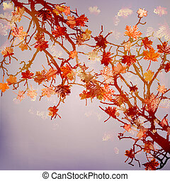 Autumn abstract floral background. EPS 10