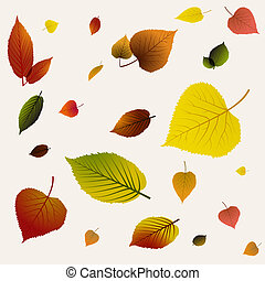 Autumn abstract floral background pattern