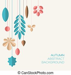 Autumn abstract floral background with place for your text