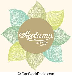 Autumn abstract floral leaf background