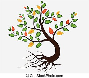 autumn abstract tree