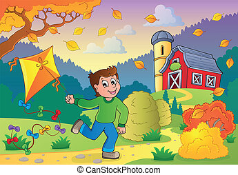 Autumn activity theme 1 - eps10 vector illustration.
