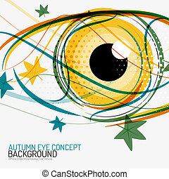 Autumn and human eye concept