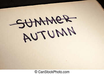 Autumn and summer in confrontation.