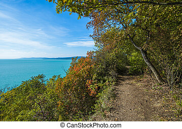 Autumn at lake Balaton in Hungary