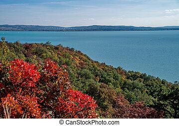 Autumn at lake Balaton in Hungary