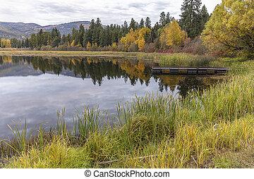Autumn at McArthur Lake in Idaho.