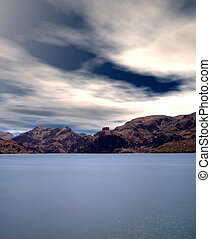 Autumn at Saguaro lake in Arizona