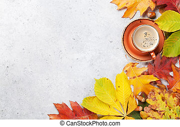 Autumn backdrop with colorful leaves