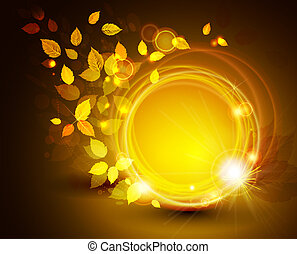 autumn background - autumn shine background with yellow ...