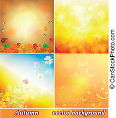 Autumn background collection