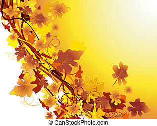 Autumn background with grapevine