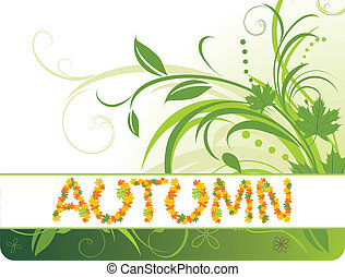 Autumn background for banner