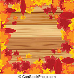 Autumn background from sheet