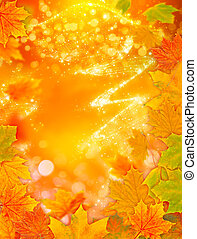 Autumn background, Golden autumn with bokeh