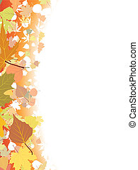Autumn background template.