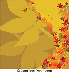 Autumn background temporary design vector illustration - fully editable