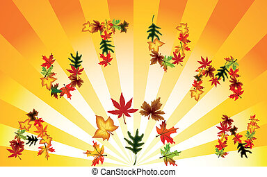 Autumn background. Vector