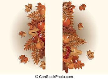 Autumn background, vector illustration