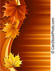 Autumn background - Vector illustration - autumn leaves...