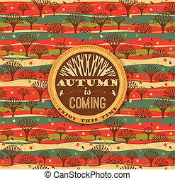 Autumn background. Vector illustration.