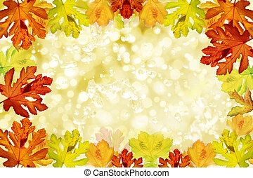 Vintage autumn background with copy space