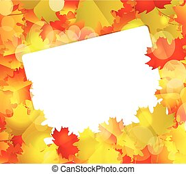 Autumn Background with blank paper