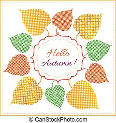 Autumn background with bright leaves