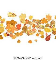 Autumn background with colorful leaves.
