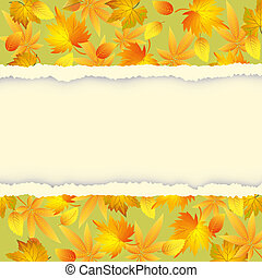Autumn background with colorful leaves pattern