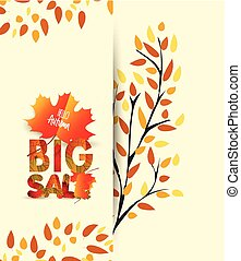 Autumn background with colorful leaves. Thanksgiving Design