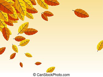Autumn background with copy space vector illustration