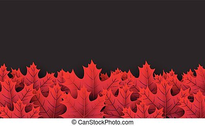 Autumn background with crimson maple leaves. - Autumn...