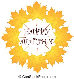 autumn background with leaf. vector