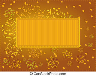 Autumn background with maple leaves - Vector illustration,...