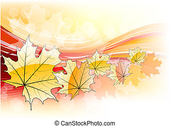 autumn background with orange leafs